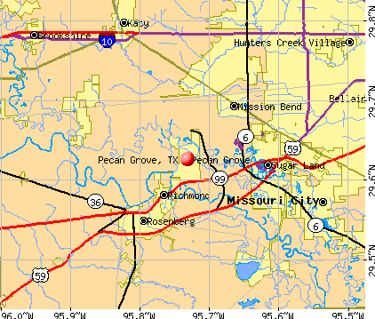 Pecan Grove, TX map