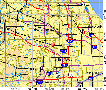 Wood Dale, IL map