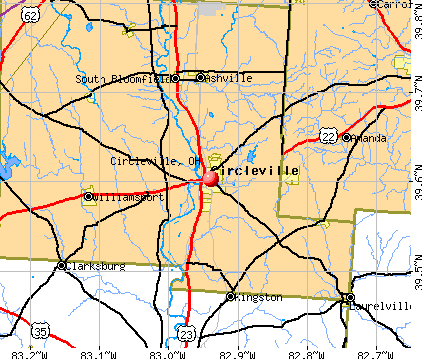 Circleville, OH map