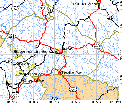 Boone, North Carolina (NC 28607) profile: population, maps, real