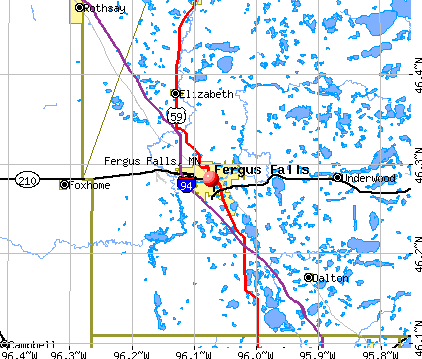 Fergus Falls, MN map