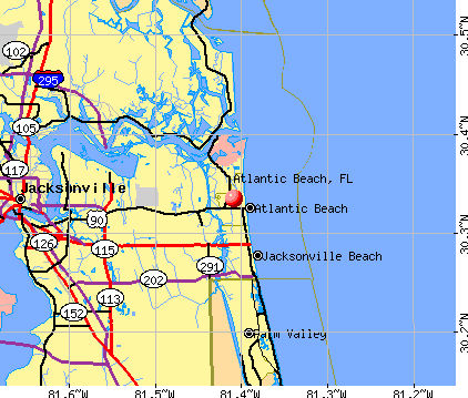Atlantic Beach, FL map