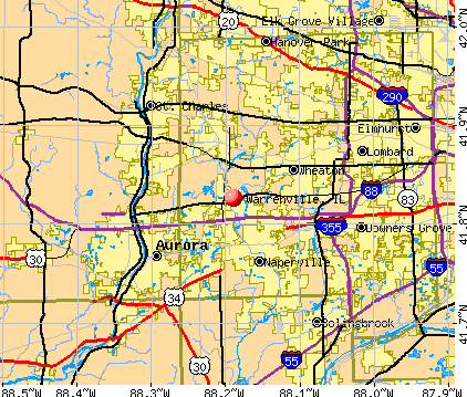 Warrenville, IL map