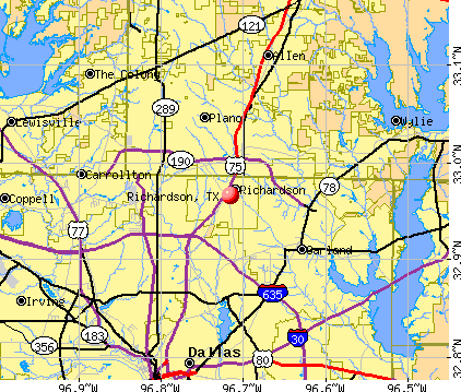 Richardson, TX map