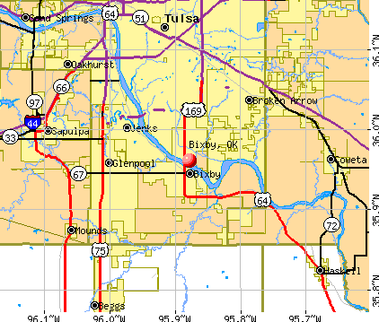 Bixby, OK map