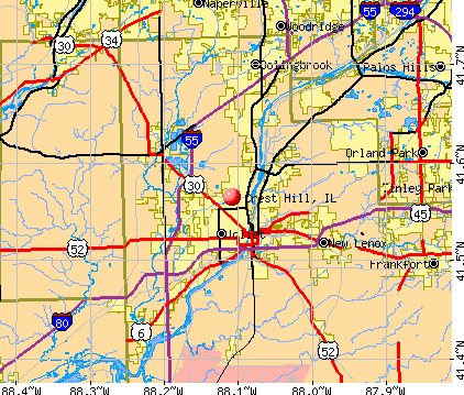 Crest Hill, IL map