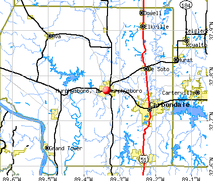 Murphysboro, IL map