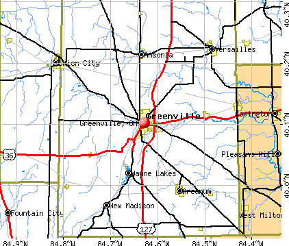 Greenville, OH map