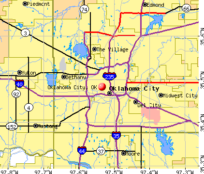 Oklahoma City, OK map