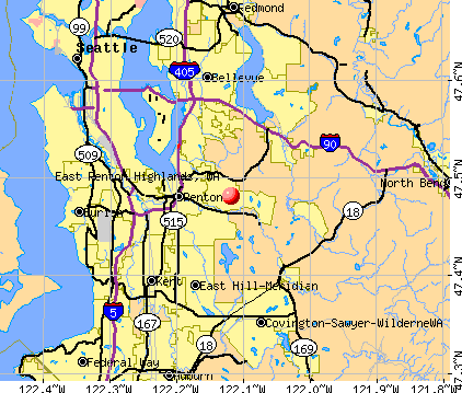 East Renton Highlands, WA map