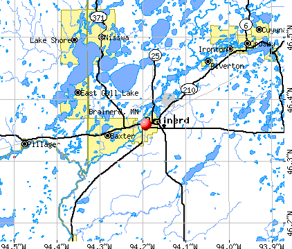 Brainerd, MN map