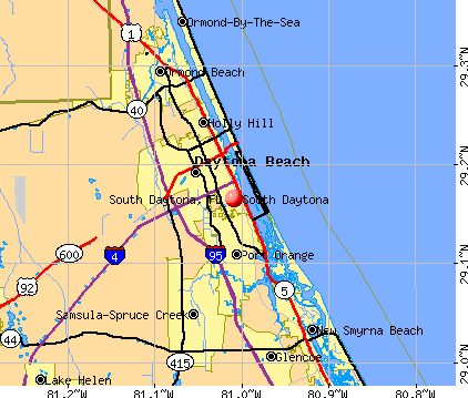 South Daytona, FL map