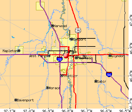 Fargo, ND map