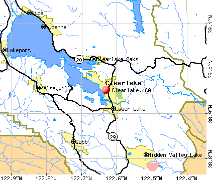 Clearlake, CA map
