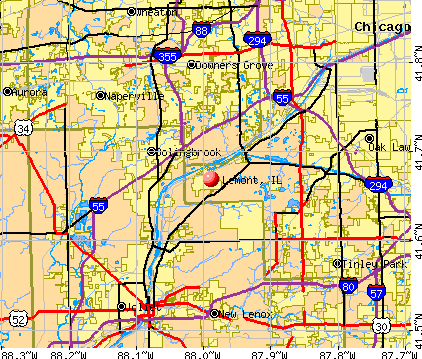Lemont, IL map