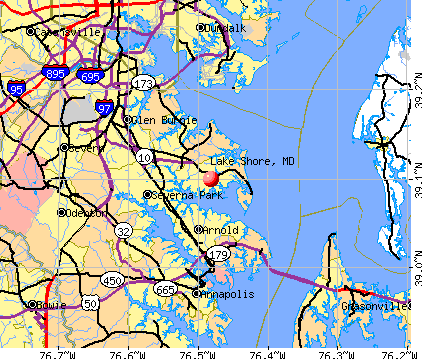 Lake Shore, MD map