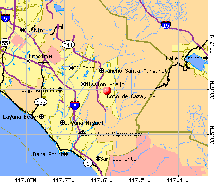 Coto de Caza, CA map