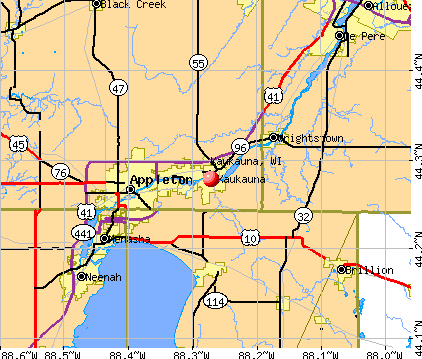 Kaukauna, WI map