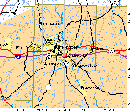 Graham, NC map