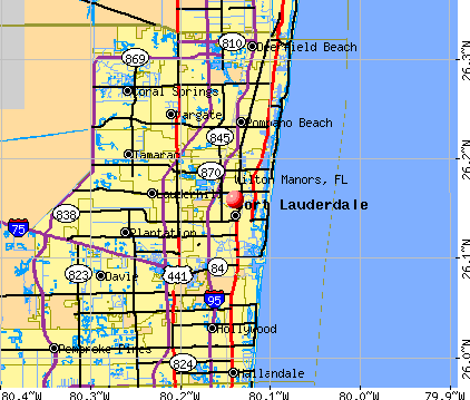 Wilton Manors, FL map