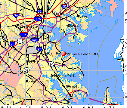 Riviera Beach, MD map
