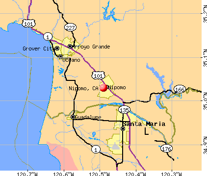 Nipomo, CA map