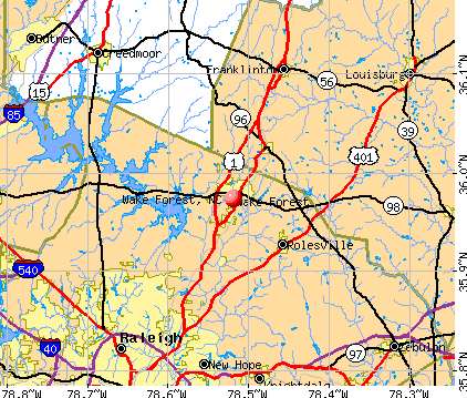 Wake Forest, NC map
