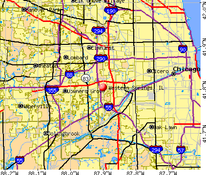 Western Springs, IL map