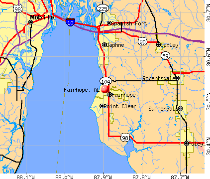 Fairhope, AL map
