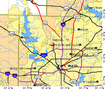 Saginaw, TX map