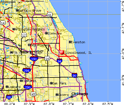 Lincolnwood, IL map
