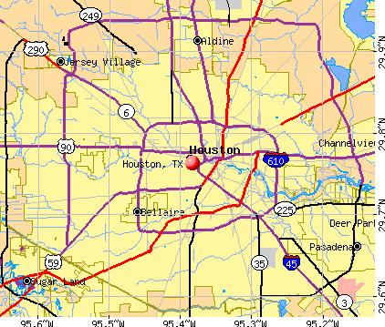 Houston, TX map