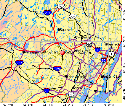 Cedar Grove, NJ map