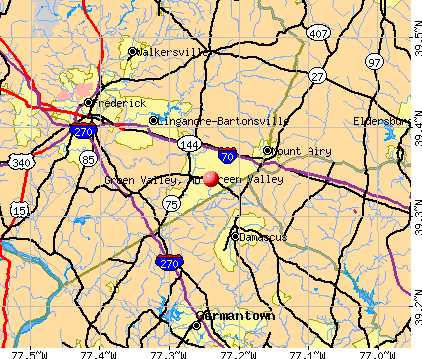 Green Valley, MD map