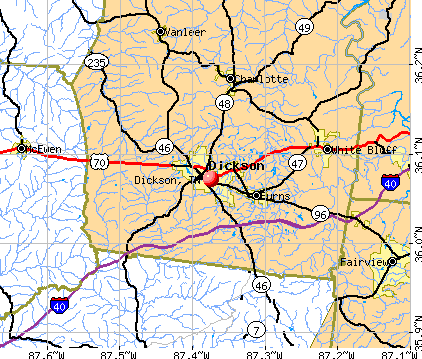 Dickson, TN map
