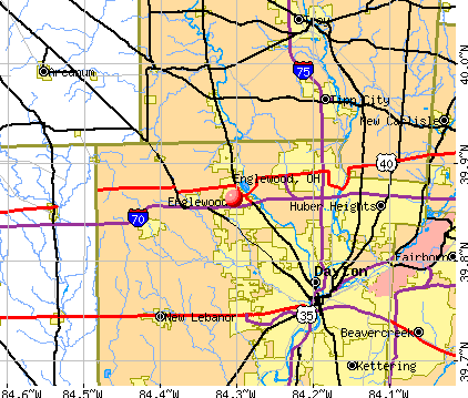 Englewood, OH map