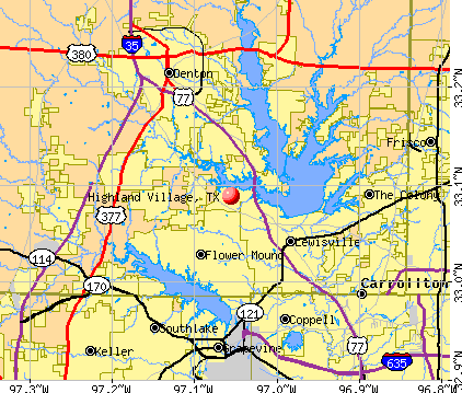 Highland Village, TX map