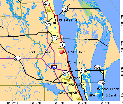 Port St. John, FL map