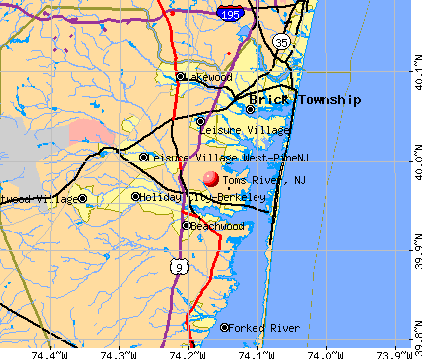 Toms River, NJ map