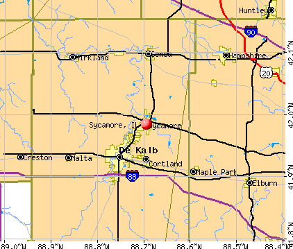 Sycamore, IL map