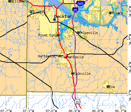 Hartselle, AL map