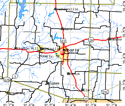 Moberly, MO map