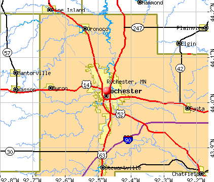 Rochester, MN map