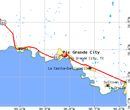 Rio Grande City, TX map
