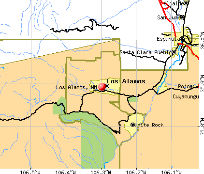 Los Alamos, NM map