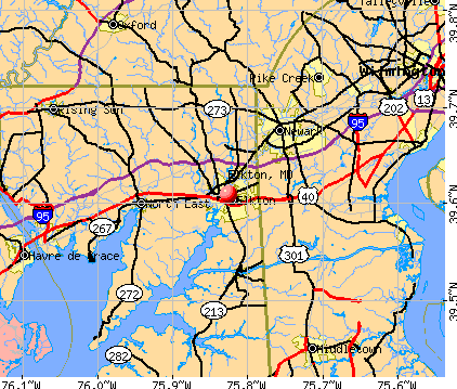 Elkton, MD map