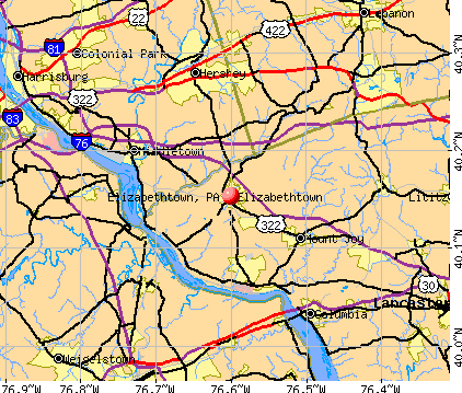 Elizabethtown, PA map
