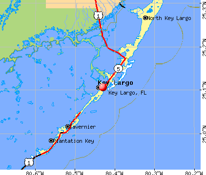 Key Largo, FL map