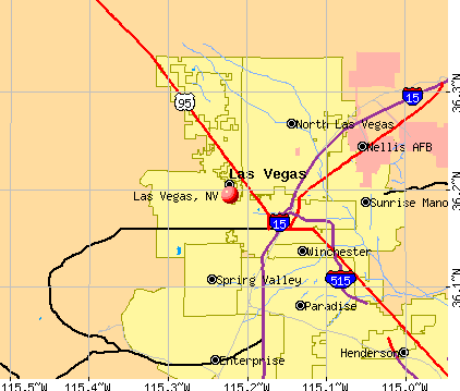 Las Vegas, NV map