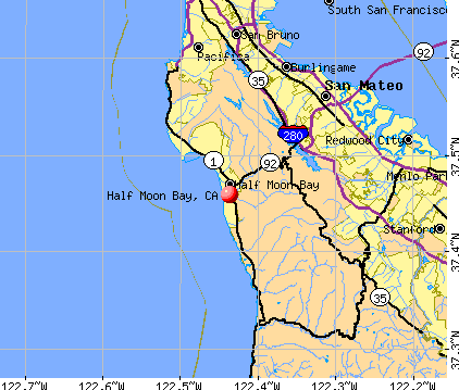 Half Moon Bay, CA map